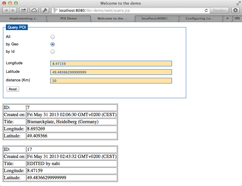 Using Glassfish 3 and Java EE 6 for longitude/latitude